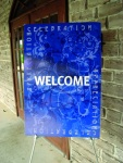 welcome sign easel